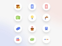 Fancy Icons product icons colorful fancy product design user interface illustration icon icons icon design iconography