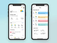 Minimalism Weather App weather forecast weather icon weather app weather mobile app design design ios ux ui product design