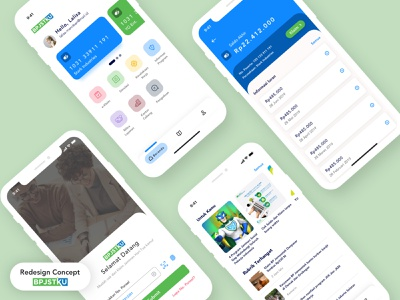 BPJSTKU App - Redesign Concept bpjstku pension insurance pensions insurance goverment app government minimal user experience mobile app design user interface ios ux ui product design