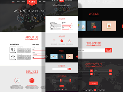 ASBE Free Coming Soon Template (PSD+HTML)