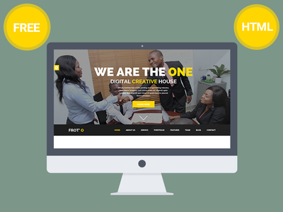 Froto Corporate free HTML template design