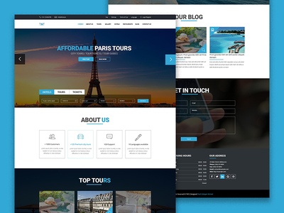 TNT - Tour And Travel Template PSD Freebie download bootstrap real estate hotel booking travel tours design psd html freebie free