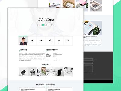 Howdy - Personal Portfolio Template Free PSD & HTML download freebie free responsive modern vcard resume portfolio personal flat cv creative