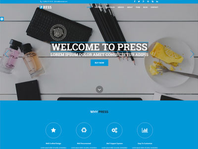 Press - Corporate HTML Template free download javascript creative corporate bootstrap download free css html