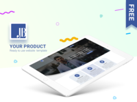 Lafirm - Landing page - Free PSD Download