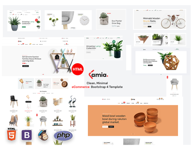 Lamia E-commerce Bootstrap 4 Template fashion store business ux ui minimal ecommerce html clean design bootstrap download