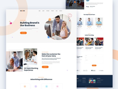 Maxon - Creative Agency template PSD (Free Download) mordern agency latest clean psd bootstrap creative corporate freebie ui ux design free download