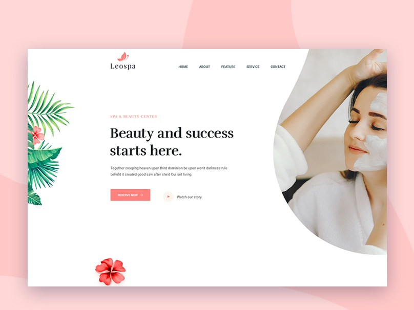 Leospa   Clean   Minimal Psd And Html Template  Freebie uiux new design latest clean free psd free html free dwonload bootstrap parlor salon spa html5 freebie download