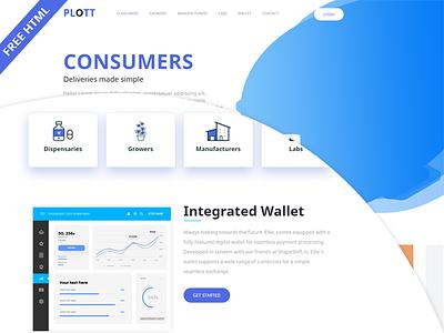 Plott – Clean & Minimal HTML5 Landing Page (Freebie) ui clean ux html template css3 html5 download html free freebie app design html application app bootstrap download