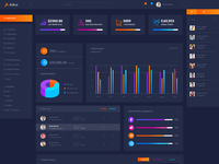 Adex    material design admin dashboard psd template