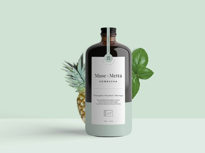 Muse Product Label motion graphics 3d animation graphic design logo branding