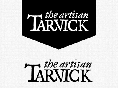 Tarvick the Artisan Logo tarvick miniature painter wargaming logo banner black white logotype
