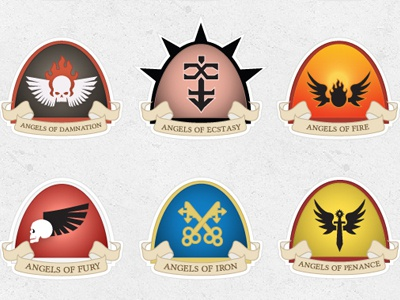 Astartes Forces Heraldry - A Section chaos warbands renegade forces space marine chapters 40k warhammer