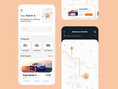 Car Rental App Design elements clean lightdesign mobile ux ui uiux design booking carrental car
