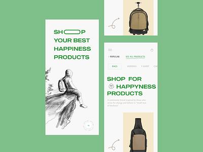Ecommerce :  Aroz Shop App Design personal shop app bag shop app cloth app ecommerce app ecommerce ui8 uix top treading minimal trean store shop design mobile lightdesign clean ux
