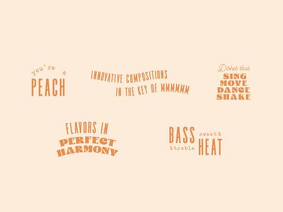 Sweetsong Type Lockups stamp harmony composition food menu georgia peach music lockup type