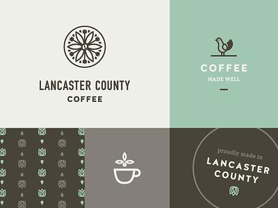 Lancaster Coffee ☕️ custom type logo icon dutch coffee lancaster branding