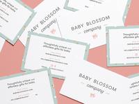 Baby Blossom Company Cards 🎉