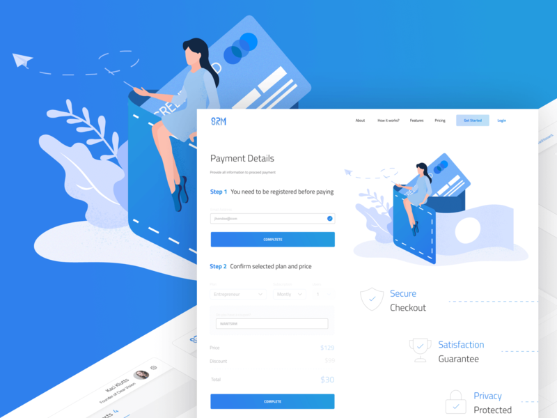 Payment Page figma digital illustration illustration user interface user experience b2c b2b payment page pay srm
