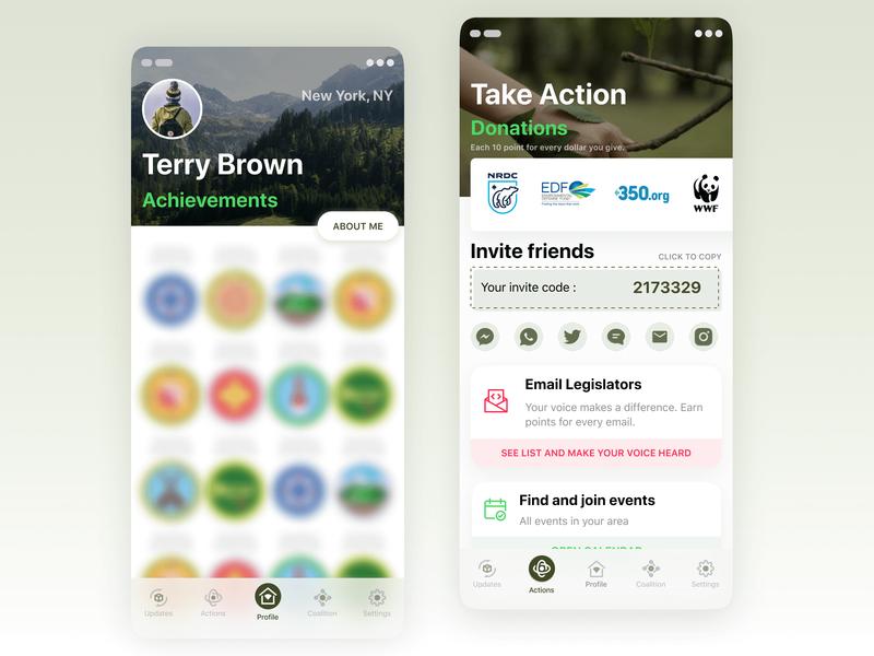 Nature care app mobile app figma enviroment care nature app design ios interaction design user interface user experience
