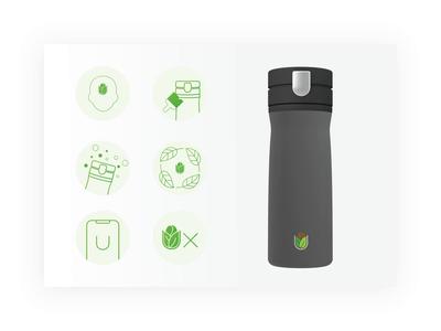 Bru Icons custom design bruer custom brushes tea coffee device smart device icongraphy icons custom icons bruvida