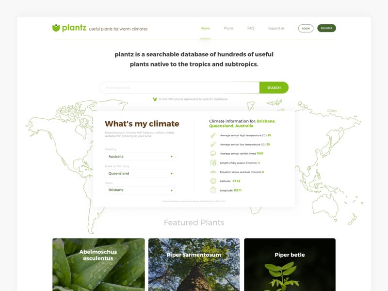 Plants website user interface eco plants web  design website