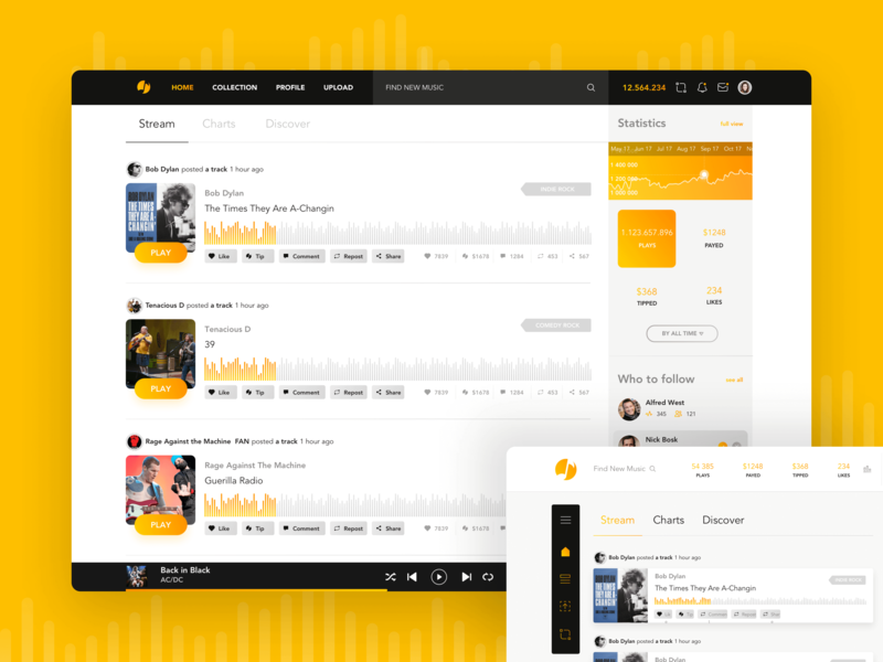 Musicoin streaming app sketchapp interaction design user experience user interface music streaming music streaming app webapp musicoin