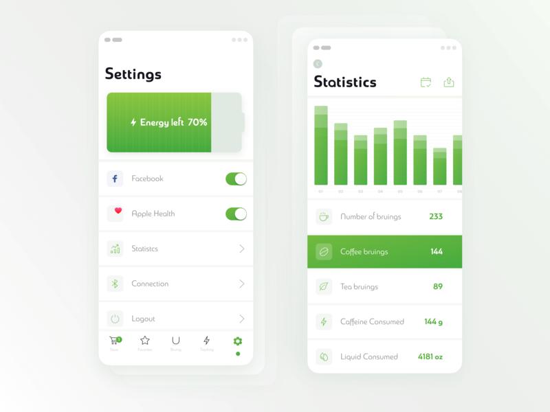 Bruvida Settings Screen mobile app user experience user interface ios interaction design bruvida app design