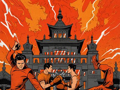 Shakyamuni apocalypse extreme sport football freestyle breakdance boxing sport architecture burning versus fighting fire temple