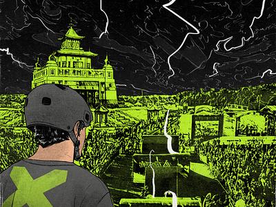 Thor x darkness green thunder mtb apocalyptic temple bmx sport extreme