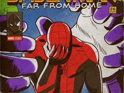 Peter ryan cover retro marvel comics mysterio spider-man night monkey movie far from home spiderman