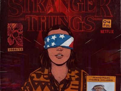 El darkness millie eleven king demogorgon tvshow series netflix comic stranger things