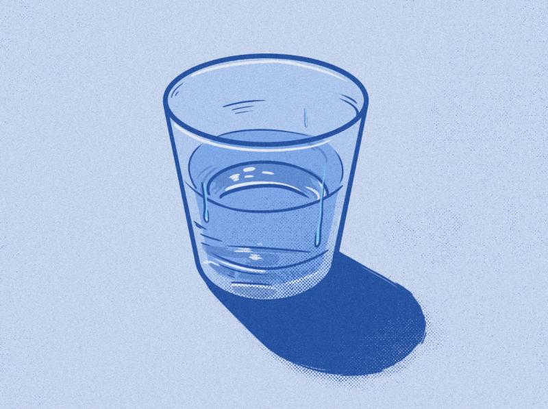 Voda halftone texture noise glass water