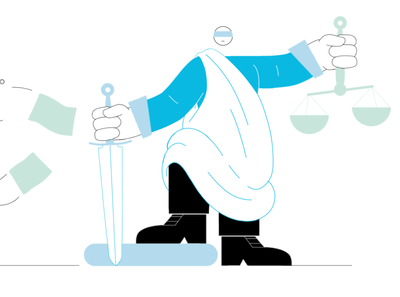 Themis corruption money statue sword themis judge