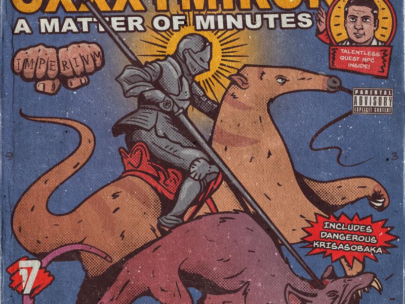 Oxxxy oxxxymiron texture retro cover artwork fun saint george monster rat saint anteater knight