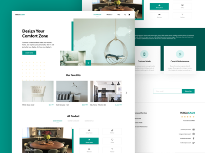 Percacash - Furniture Store Web Design