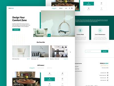 Percacash - Furniture Store Web Design web design architecture product design interior furniture product branding website design ux ui