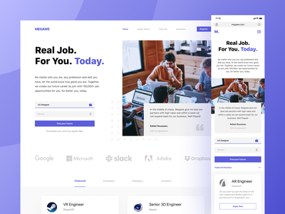 Megawe - Job Vacancy Web Design vacancy work job web design products design website ux ui