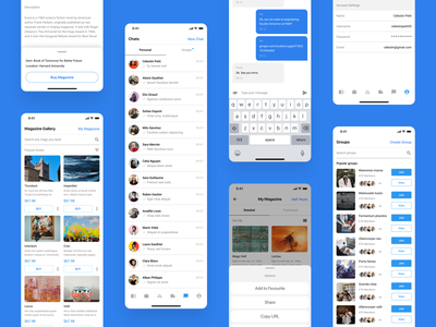 Ongoing Project design discussion marketplace sell group chat web design iphone product design app ux ui project