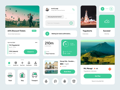 travel ui kit modul ios ui kit component travel plan product product design website design icon app ux ui