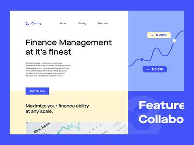 Finance Management Platform web design landing page ux ui website sales tax money management finance