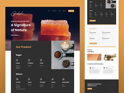 gulaplus website icon promotion marketing ui profile website company sugar web design