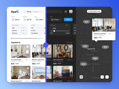 Apart - Apartment booking website web design apartments for sale motel hotel stay apartment design website ux ui