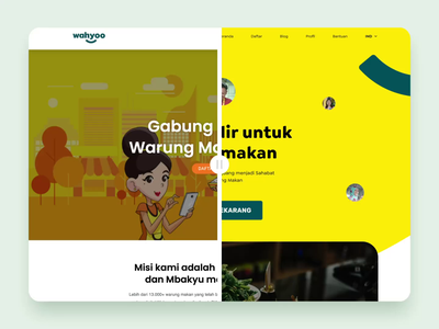 Wahyoo Group - Website Redesign icon illustration startup company food web developer website concept brand experience ux ui interface web design website