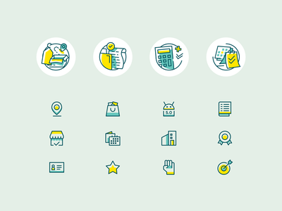 Icons for Wahyoo website web design landing page icons flat website design illustration icon app ux ui