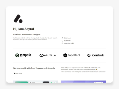New Year. New Website ui ux design site portfolio site personal notion website design website