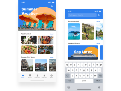 Explore Summer UI Design