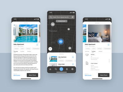 Hotels booking apartment home house residence hotel flat website design icon app ux ui