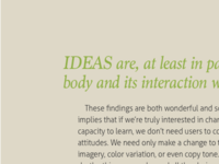 Type Set Match: Creating for the Brain in the Body