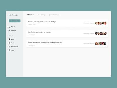 Meetingdocs web saas app web design minimalist saas website app